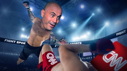 Ep. 865 -CNN Gets Into The Ring With a Cage Fighter